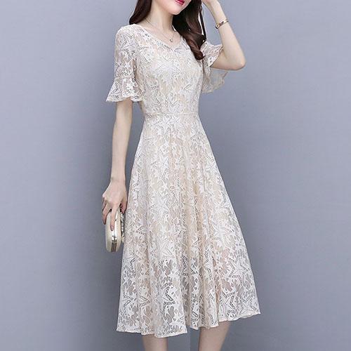 스타 패턴 튤 레이스 원피스 여자옷 남자옷 쇼핑몰